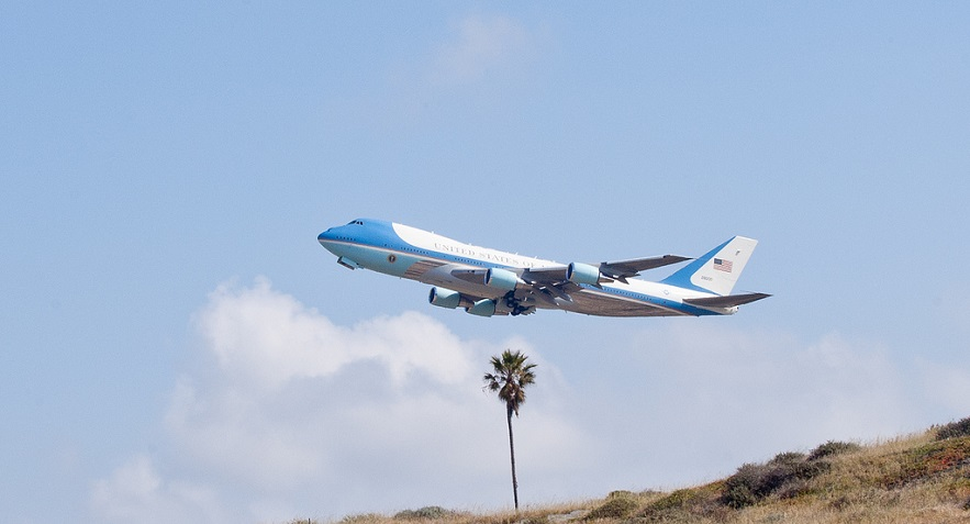 Air Force One, taking off from LAX - Credit: Flickr user Anthony Citrano