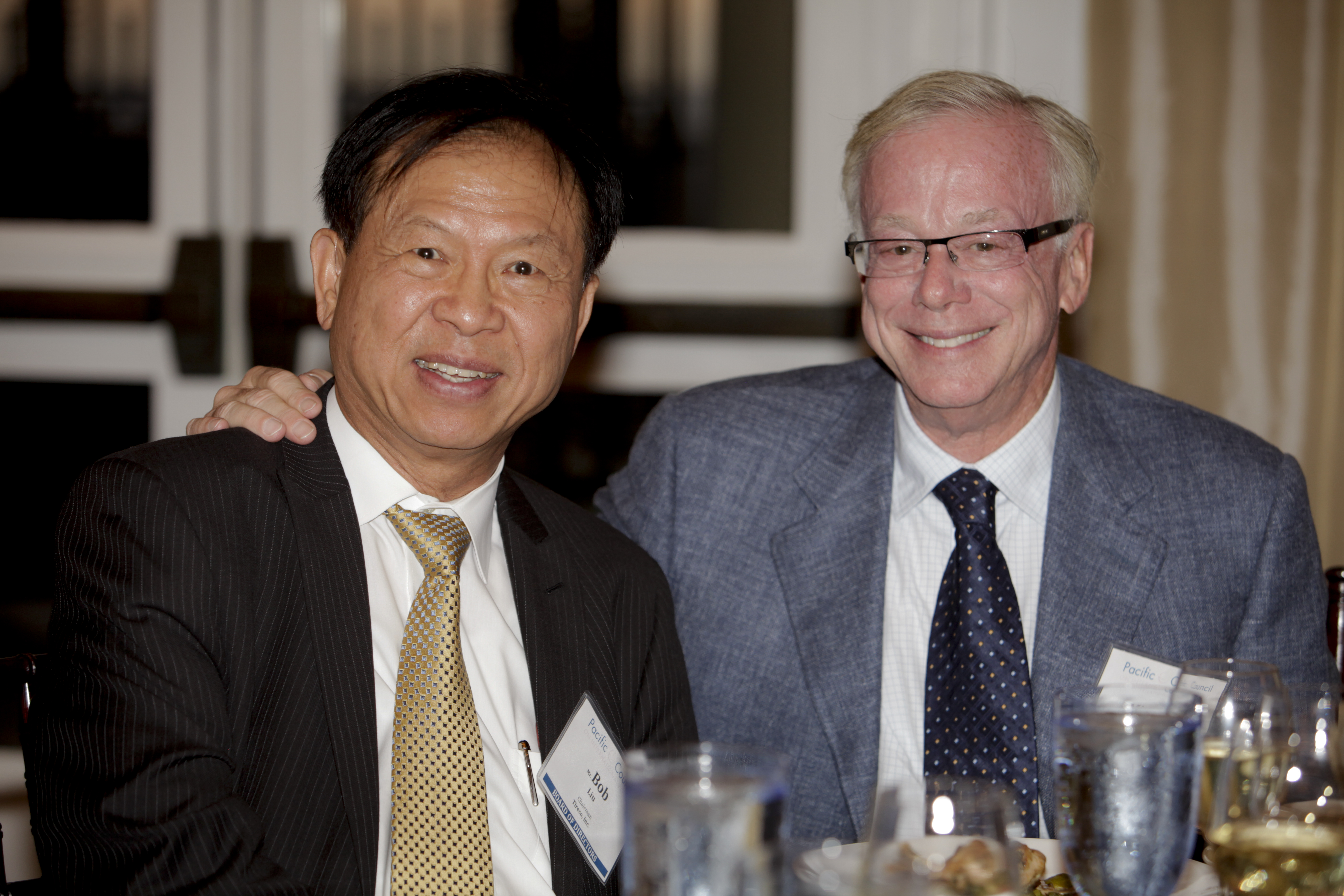 Long-time Pacific Council supporters Robert Liu and Michael Kaplan