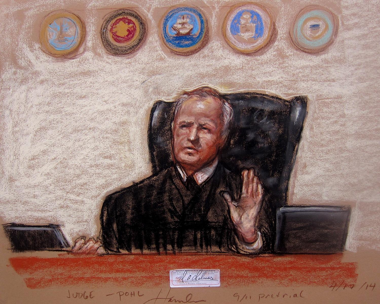 Col. James L. Pohl, photo credit: court artist Janet Hamlin