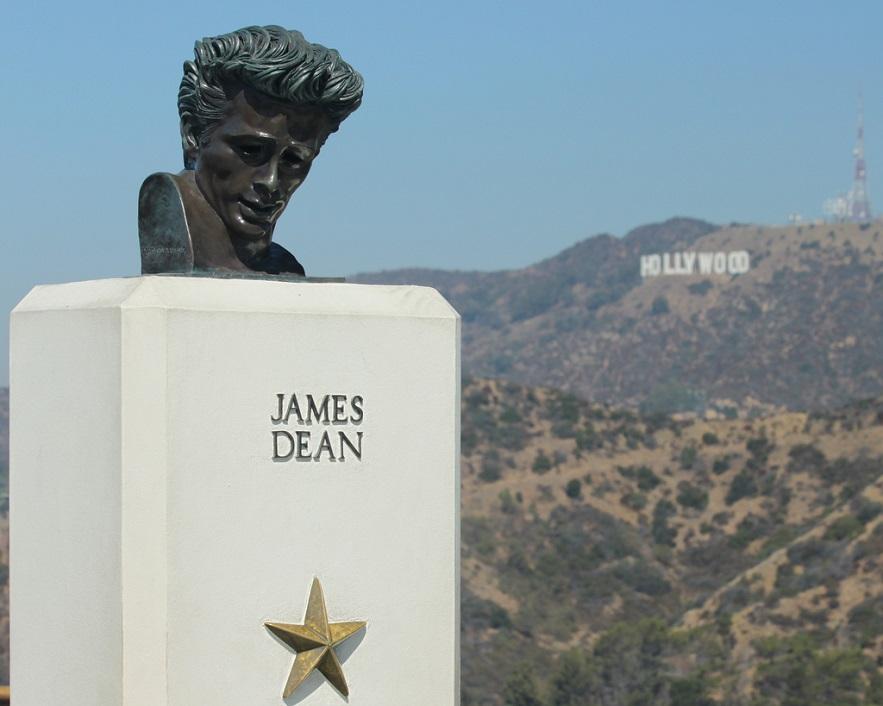 James Dean statue, Griffith Park, Los Angeles - Credit: Flickr user Prayitno