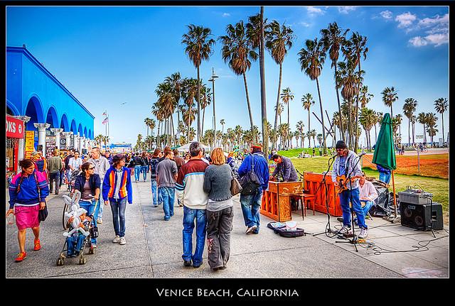 Venice Beach, California - Credit: Flickr user Pedro Szekely
