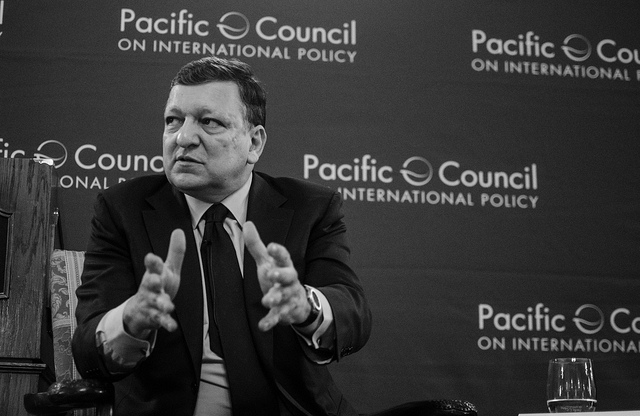The Hon. José Manuel Barroso, former President of the European Commission, at a Pacific Council event - May 2014