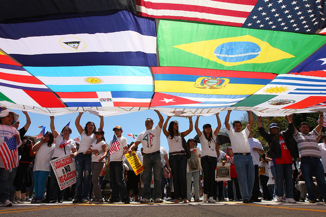 Thousands march for immigration reform in Los Angeles, CA - Credit: Flickr user SEIU