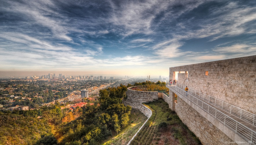 View of Downtown Los Angeles from the J.Paul Getty Museum - Credit: Flickr user Justin Vidamo