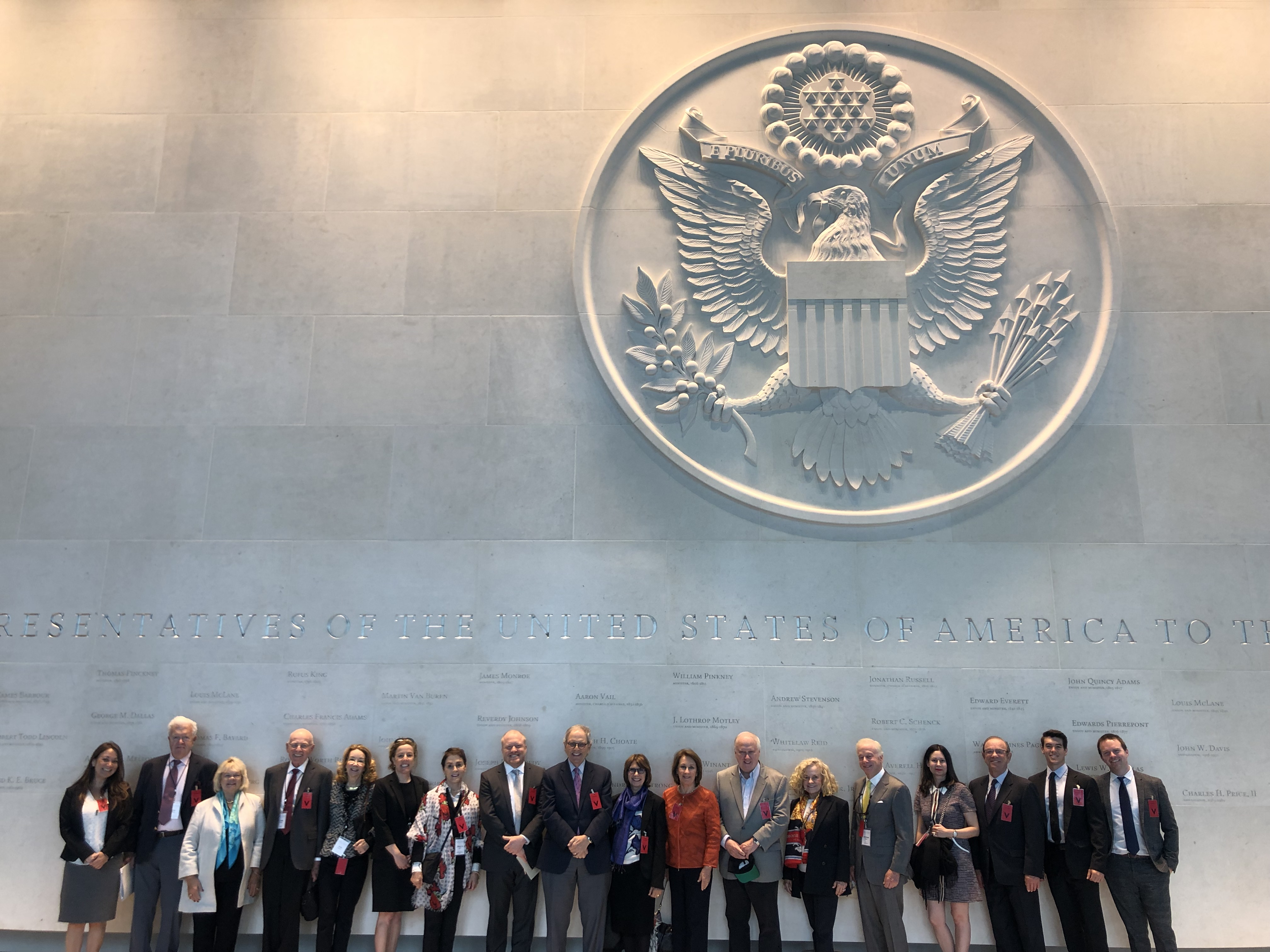 UK & France - May 2019  Council delegates visit the new U.S. Embassy in London during a visit to the United Kingdom and France at the height of the Brexit controversy in May 2019.