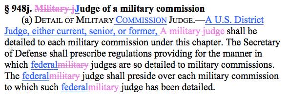 Section 948j, with proposed amendment in redline